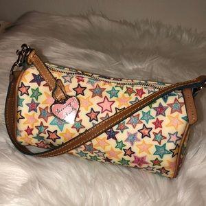 Dooney & Bourke Mini star ⭐️ canvas & leather bag